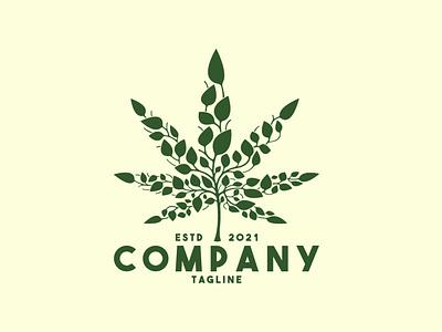Cannabis Leaf Logo leaves herbal drug natural nature plant leaf cbd cannabis health medical illustration exclusive vector logo branding design