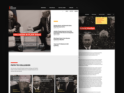 The Moscow Project Website politics trump ux community web website landing page ui