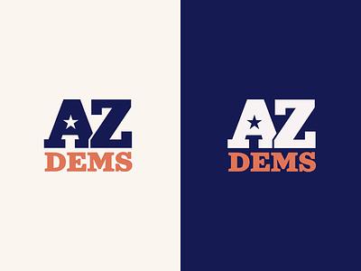 Arizona Democrats Logo arizona politics branding logo