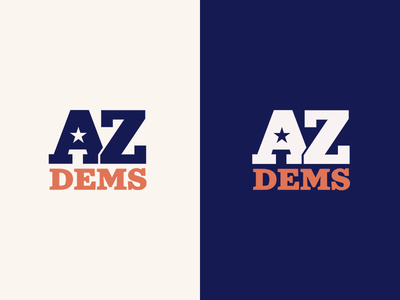 Arizona Democrats Logo arizona politics branding logo