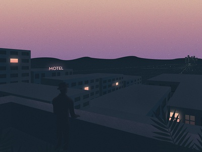 Here's to the fools who dream personal sunset summer city light texture drawing flora design illustration