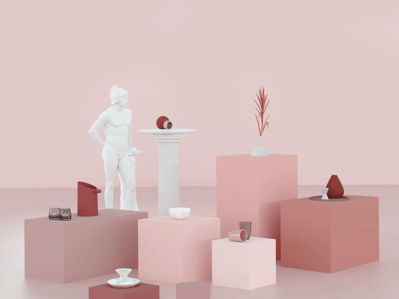 Pink render cgi blender 3d blender3d blender 3d pink