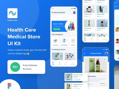 Health Care UI Kit appointment payment appointment specialist health app patient app medical app health healthcare doctor appointment minimal online buy medicine doctor app ui app design ios app design branding design solution design medical