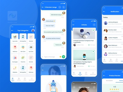 Health Care UI Kit minimal doctor healthcare health medical app patient app health app specialist payment appointment
