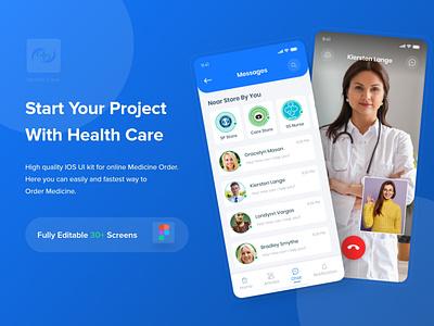 Health Care UI Kit ios app design app design appointment payment branding ui specialist health app patient app medical app health healthcare doctor minimal