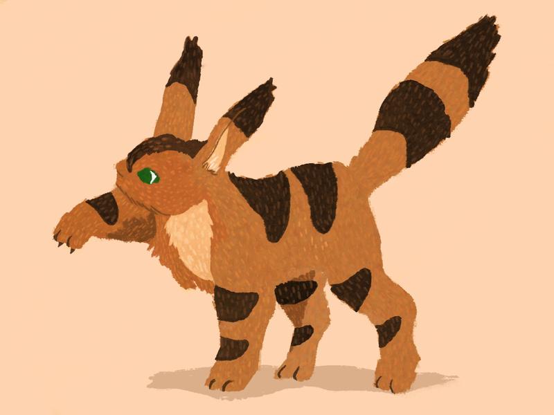 Teto the Fox Squirrel cute animal creature cute nausicaa studio ghibli art illustration digital illustration
