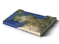 Topographic Map of Turkey