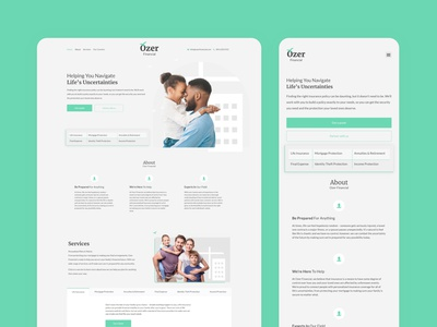 Ozer Financial web design minimal web branding design