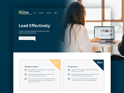 Bitesize Website ux ui logo web design design branding