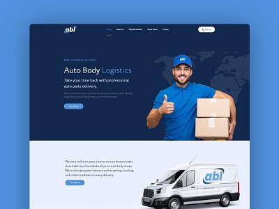 Auto Body Logistics Website design web ux ui logo web design branding