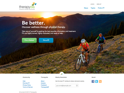 My new Home (Hired at Therapydia) therapydia hired designer ux ui homepage web design