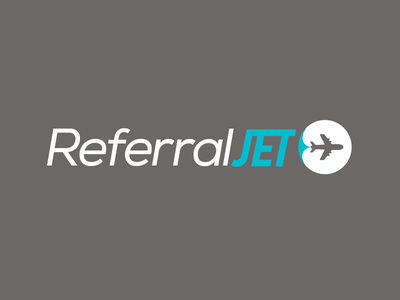 Referral Jet Logo vector branding brand logo flat design design nexa plane jet clean