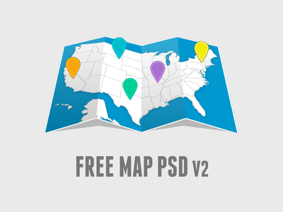 Free Editable Map PSD V2.0 free map psd editable easy to edit flat minimal ui free maps freebie statley psddd