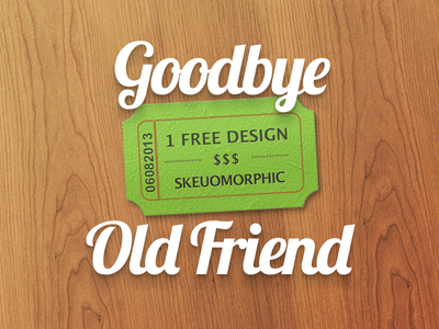 Goodbye Skeuomorphism, Dear Friend [freebie] skeuomorphism skeuomorphic photoshop textures dropshadow
