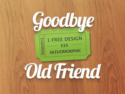 Goodbye Skeuomorphism, Dear Friend [freebie]
