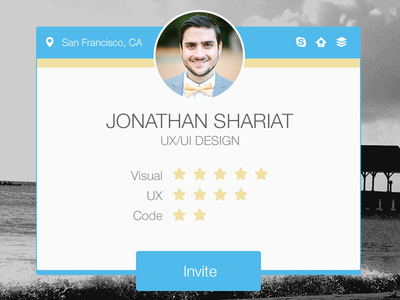 Welcome Card card psd freebie template profile ux ui visual