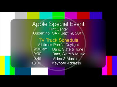 Homage to the TV Truck Schedule tv truck schedule joke funny apple
