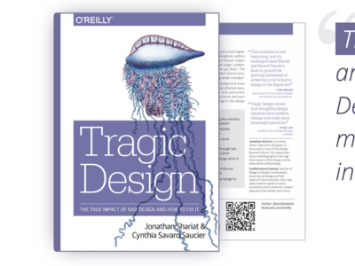 My book Tragic Design is released! research harm oreilly book ethics design