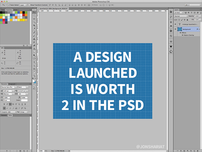 A Design Launched is Worth 2 in the PSD