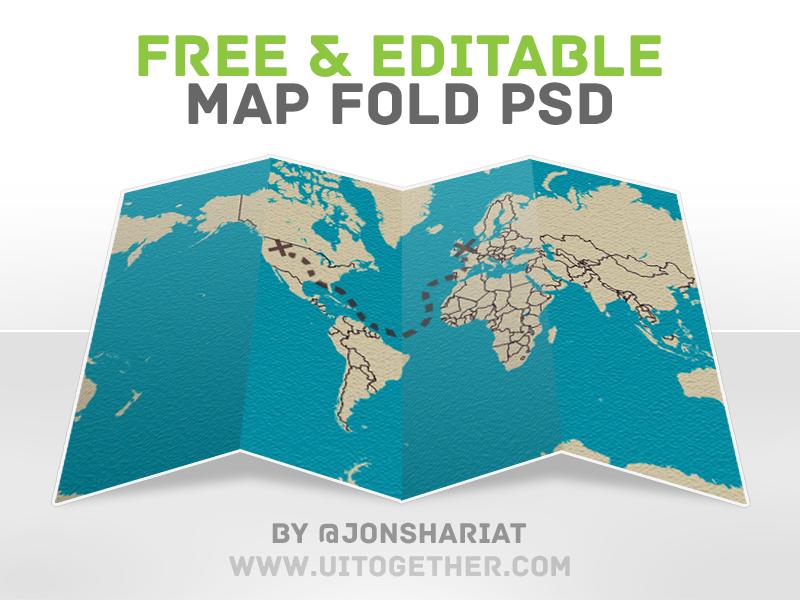free editable map fold psd by jonathan shariat dribbble dribbble