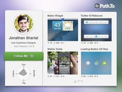 Path.to Profile Widget [Free PSD]