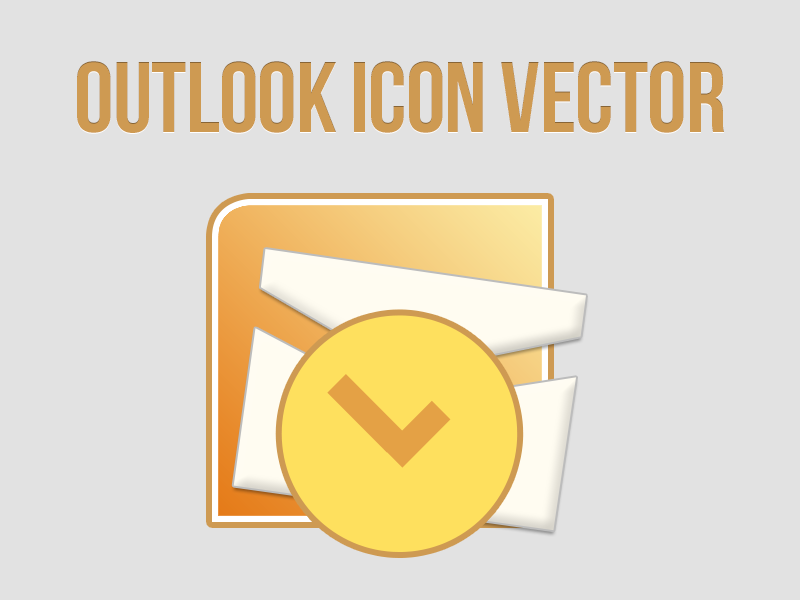 Free Outlook Icon Vector [PSD] free freebie outlook icon iconography microsoft ms email design