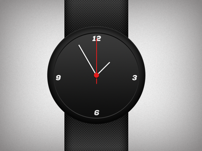 Tick Tock Minimal [Freebie] clock watch minimal black on black swiss dark photoshop freebie psd