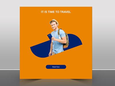 Travel Social Post Design photoshop