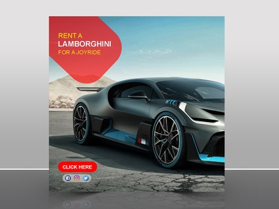 Car Rent Social Media Post Design facebook post instagram post rent car social media adobe photoshop design