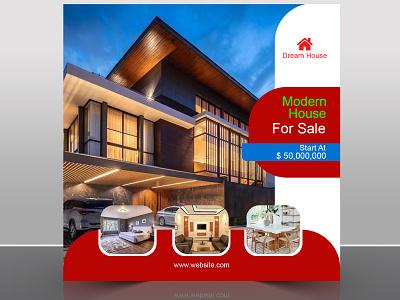 Real Estate Social Media Banner dream house modern house real estate facebook post social media adobe photoshop design