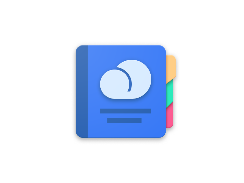Journal Icon app icon material design android icon android design icon cloud to-do notebook journal