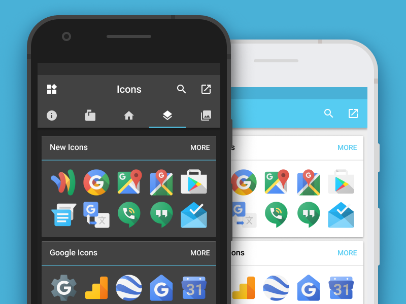 Polar Dashboard - Icons icons open source android app android ui app design polar