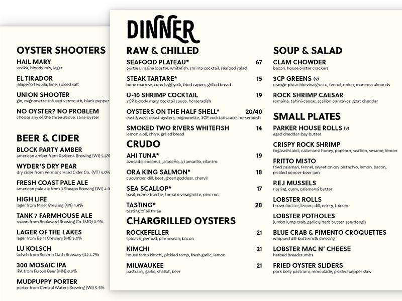 3CP Menu grid type menu design print menu