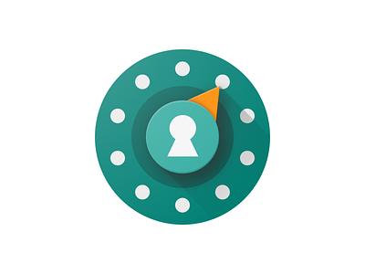 Password Safe - Dial adaptive icon ios icon android icon android design safe dial lock icon design icon