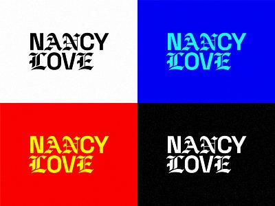 Nancy - Wordmark texture logotype logo design emo pop art color logomark wordmark branding type typography logo design
