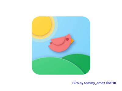 Birb icon icon design square bird ios icon android android icon app icon ios material design adaptive icon