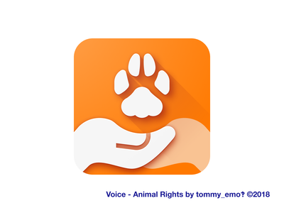 Voice - Animal Rights flutter charity material design adaptive icon animal rights icon design icon design app icon android ios