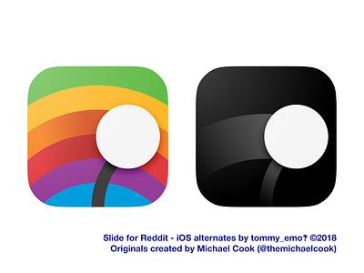 Slide for Reddit - iOS Alternate icons vaporwave colors retro icons slide reddit icon design alternate icons app icon ios icon ios
