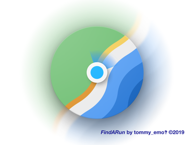 FindARun lakeside iconography design app icon map figma material logo icons icon color android run geometric