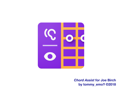 Chord Assist – Primary Icon google assistant accessibility icon design iconography design app icon figma material logo color icons icon depth guitar geometric