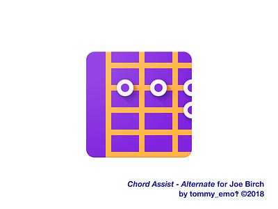 Chord Assist – Secondary Icon purple accessibility icon design iconography design app icon figma material logo color icons icon depth guitar geometric