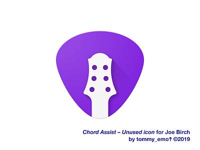 Chord Assist – Unused icon purple minimalist simple accessibility icon design iconography design app icon figma material logo color icons icon depth guitar geometric