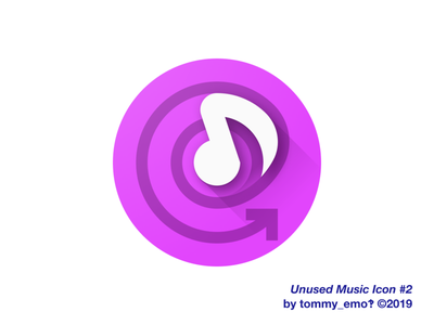 Music Icon #2 swirl iconography icon design app icon music app music note note music loop infinite geometry color purple abstract