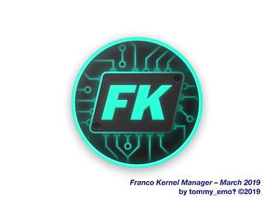FK Kernel Manager – March 2019 designs icon designer design brand logo glow shadow neon color circuit kernel icons android icon design icon design android icon android material design icon