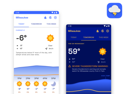 Weather app – WIP 1