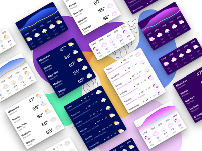 Currently—Widgets product design material android ui ui design app design product widgets