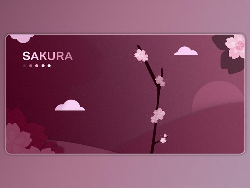 Sakura 🌸 cherry blossoms spring sakura reddy card design illustration