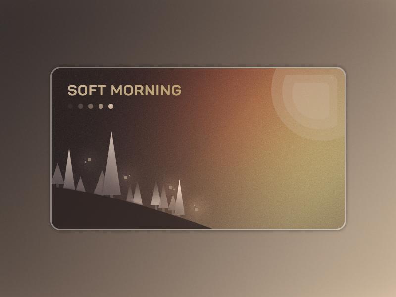Soft Morning 🏞️ sunrise forest morning card design reddy illustration