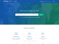 Newswire Helpdesk Landing Page