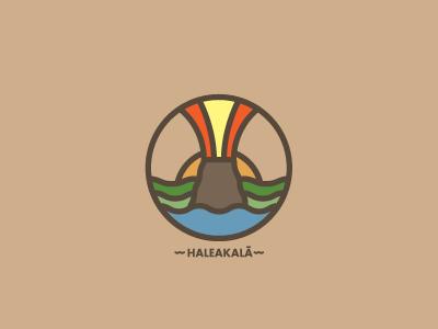 Haleakala mountains nature outdoors logo